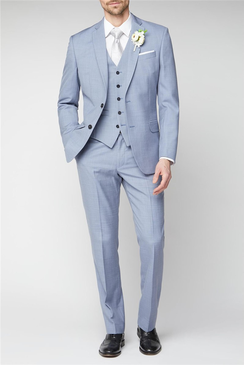 Occasions Pale Blue Regular Fit Suit