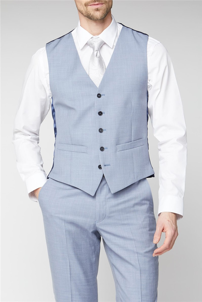 Occasions Pale Blue Adjustable Waistcoat