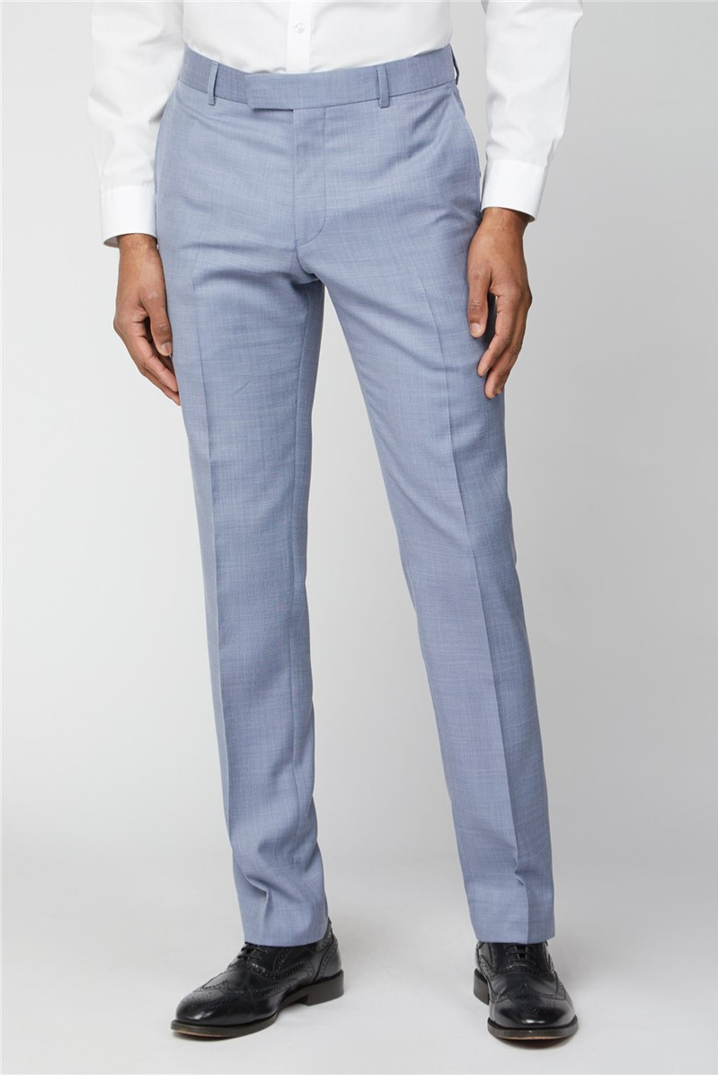 Occasions Pale Blue Slim Fit Trousers