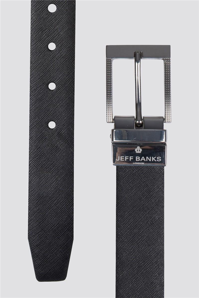 Black Navy Saffiano Reversible Belt