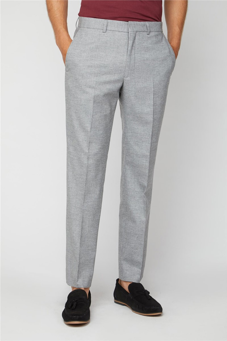Cool Grey Flannel Regular Fit Suit Trouser