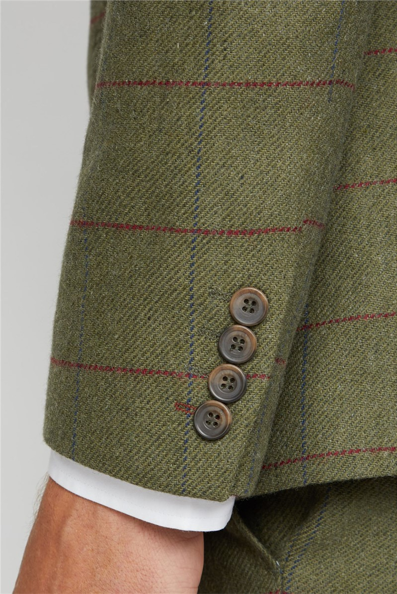 Green Heritage Check Tailored Fit Jacket