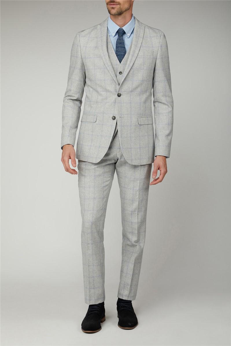 Light Grey Blue Check Jacket