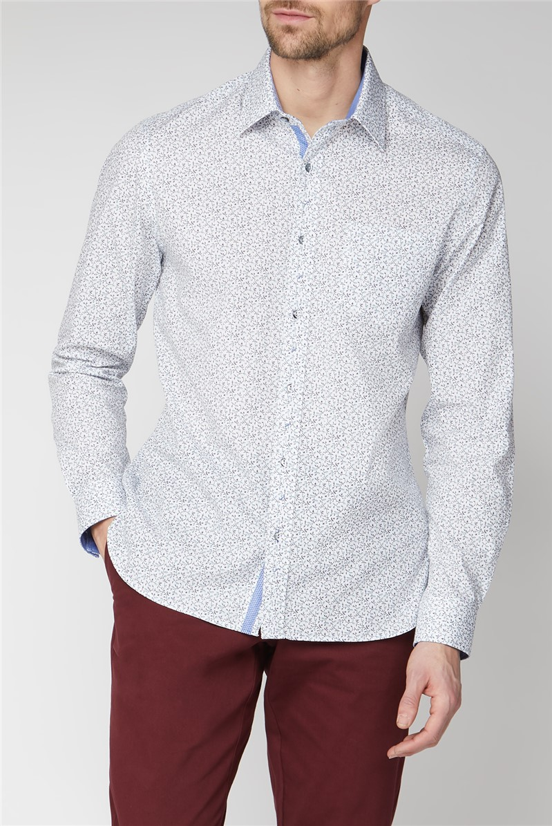 Casual White Berries Print Shirt