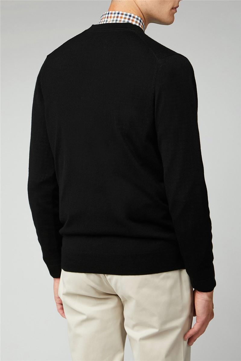 Signature Black Merino Blend Cardigan