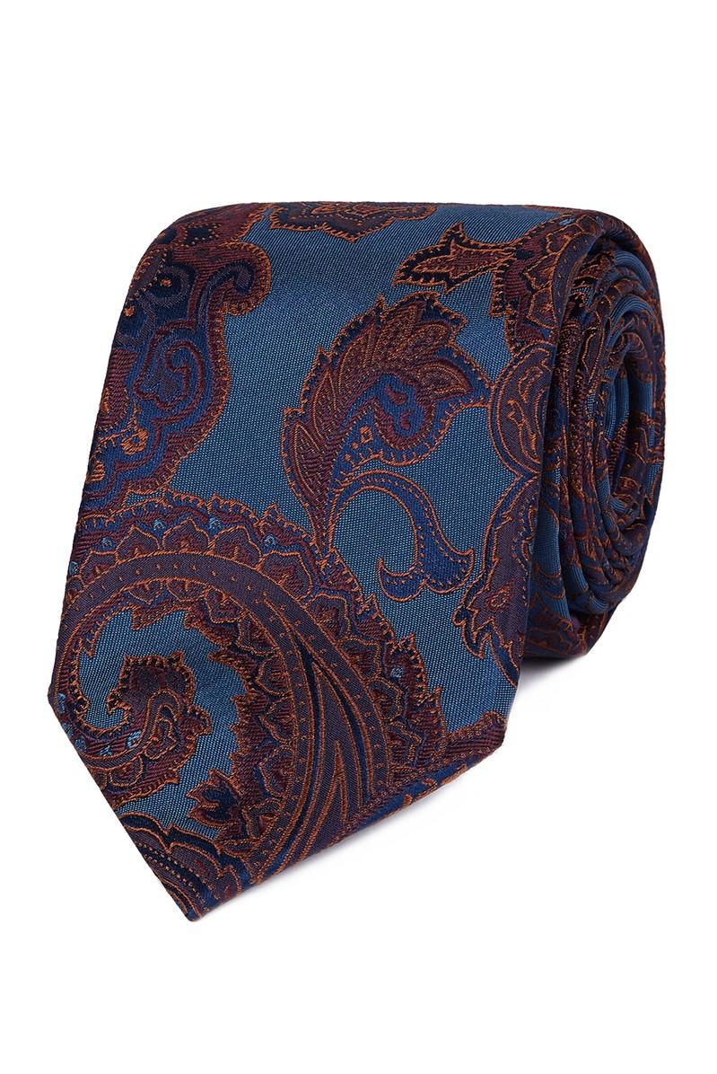 Stvdio Teal Bold Paisley Tie