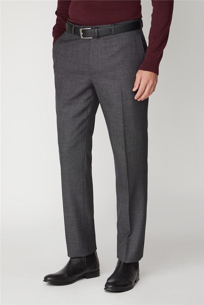 Grey Birdseye Texture Stand Alone Trouser