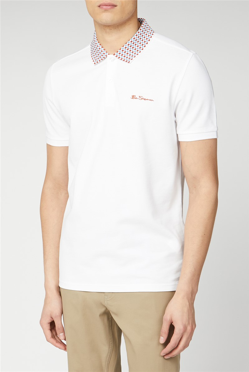 Patterned Collar Polo