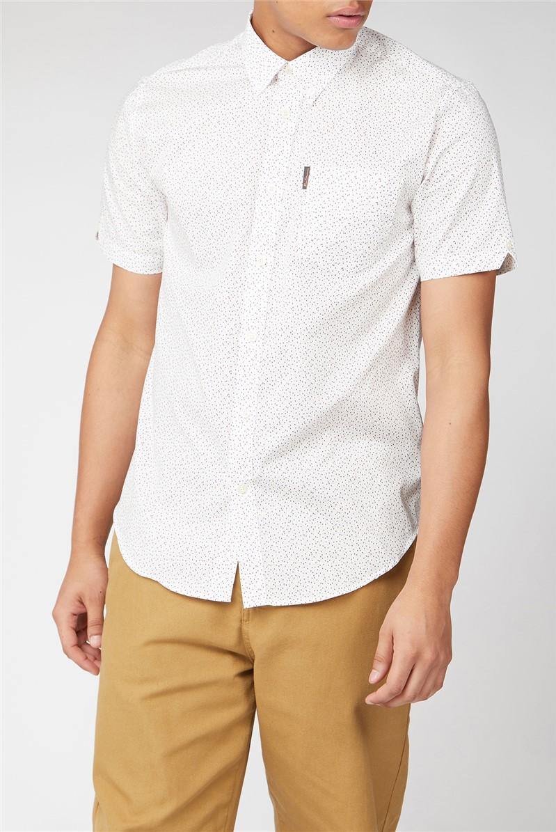 Short Sleeve Dash Print Shirt