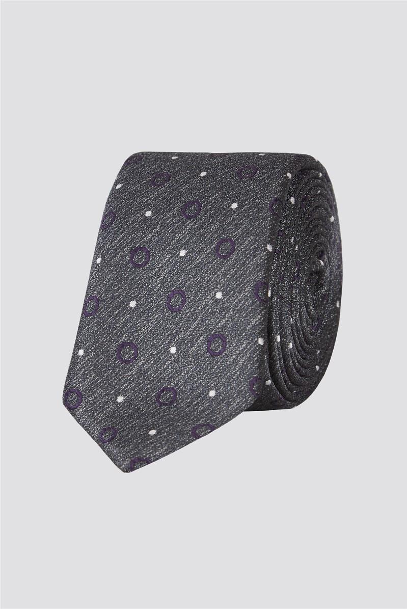 Brit Grey Spot Tie