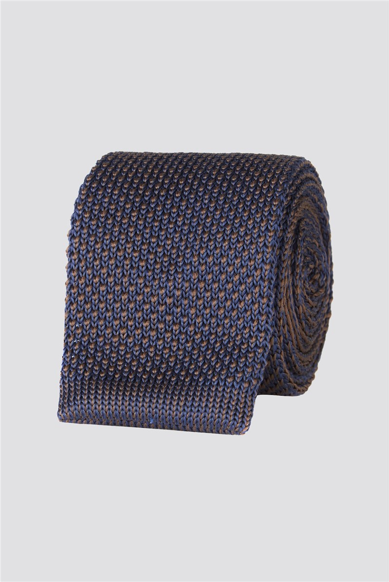 Brit Navy Knitted Mens Tie