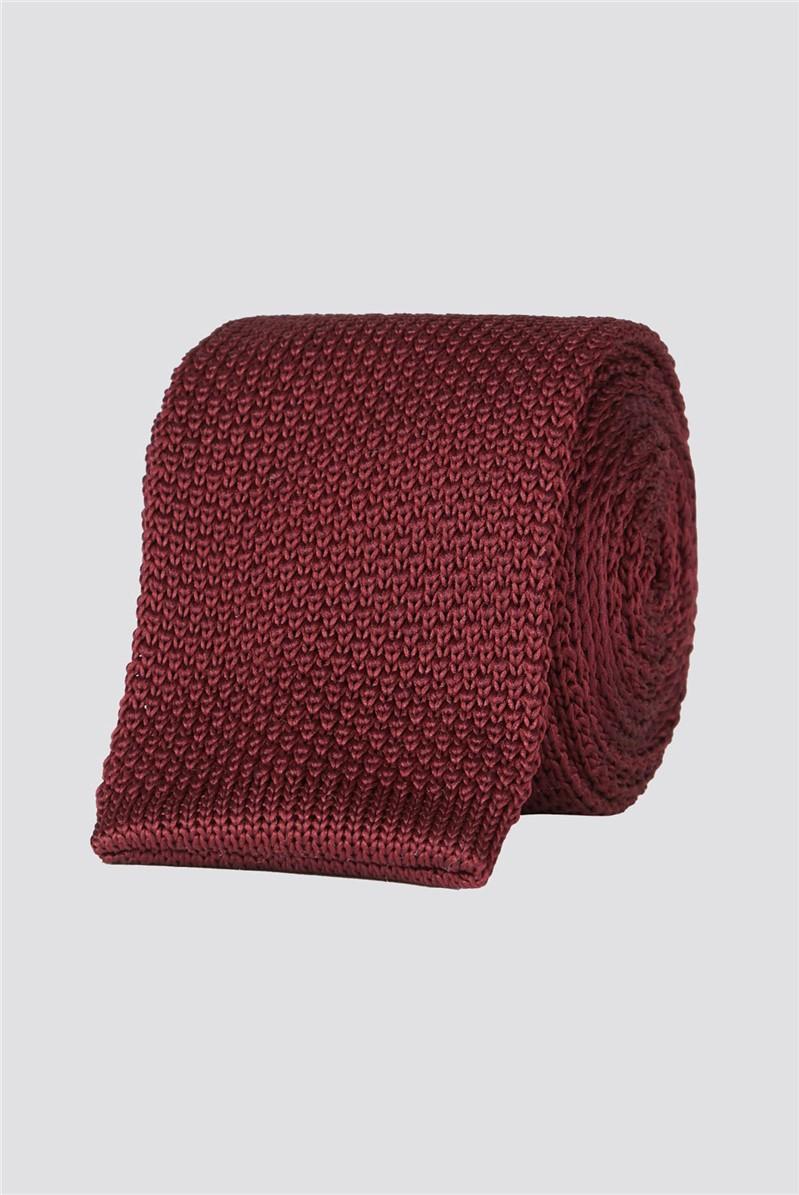 Brit Wine Knitted Mens Tie