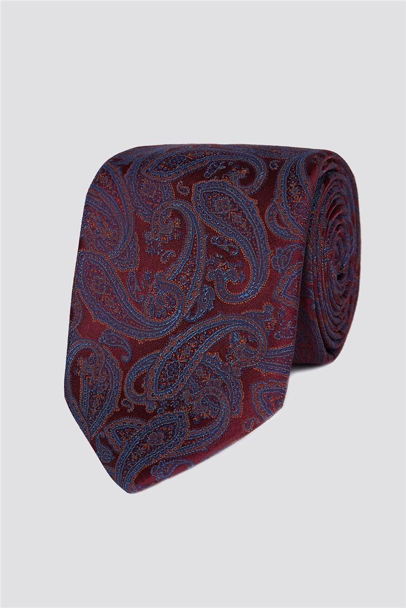 London Wine Intricate Paisley Tie