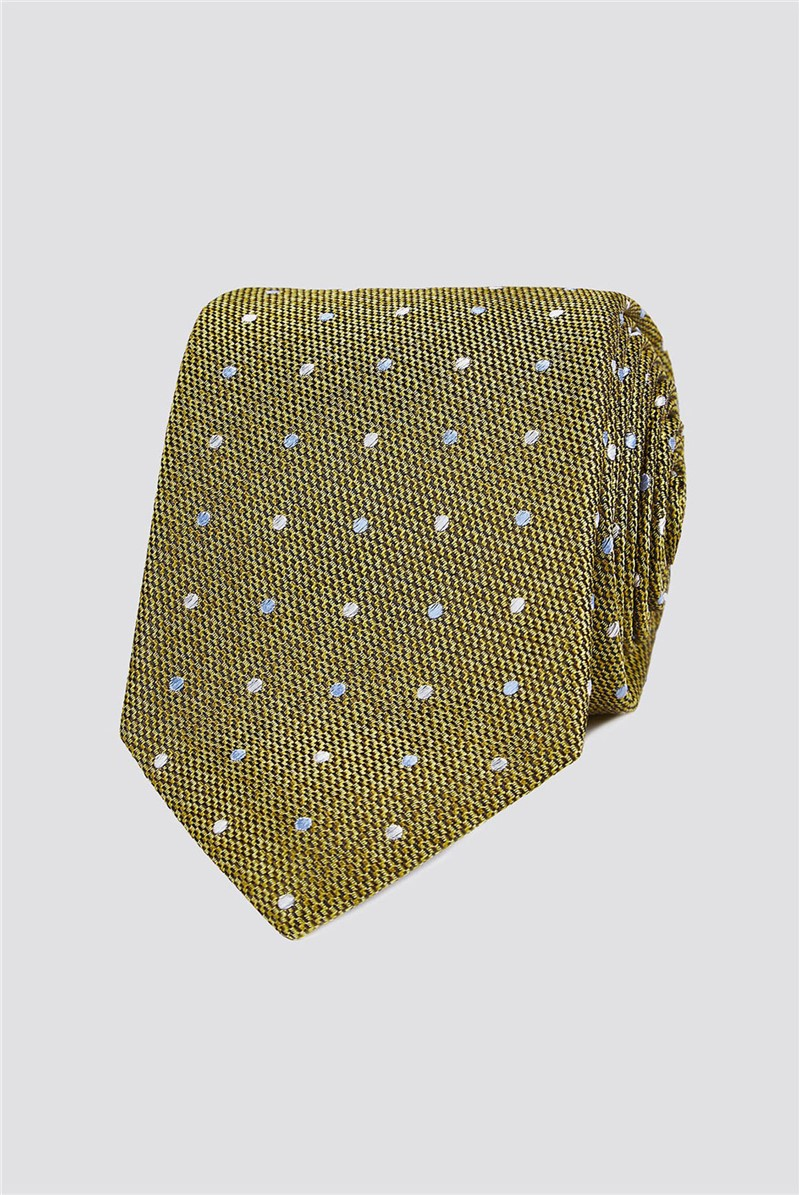 Gold Textured Spot Tie