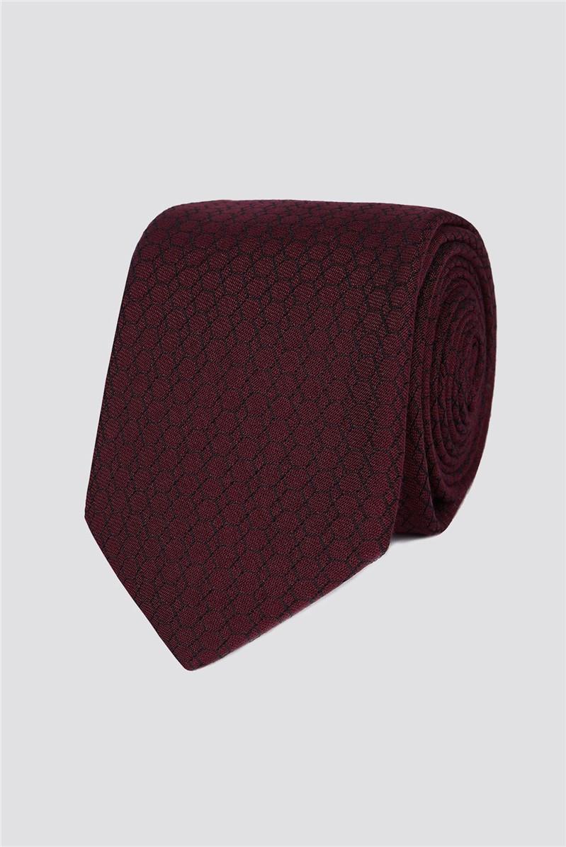 Wine Honeycomb Tie
