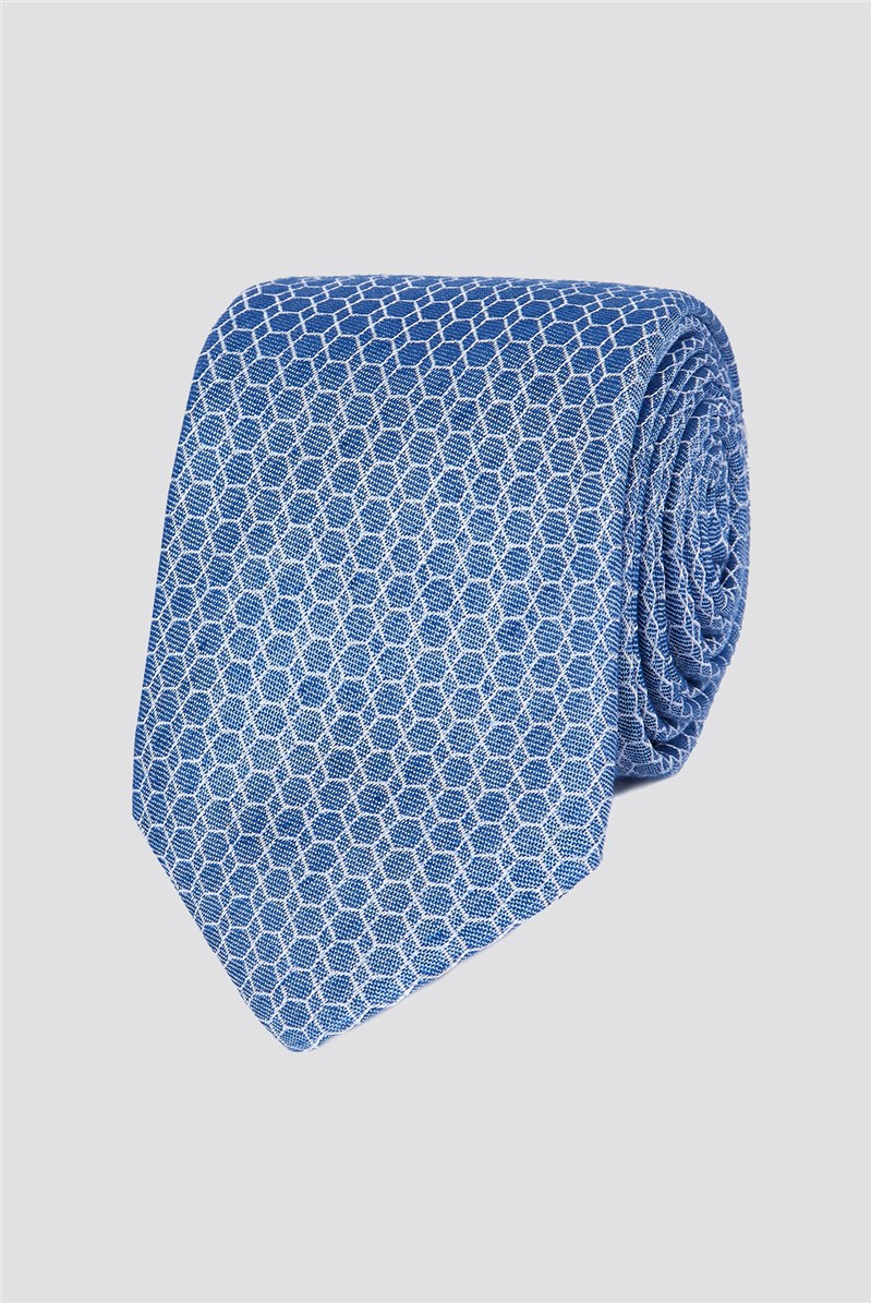 Stvdio Light Blue Honeycomb Tie