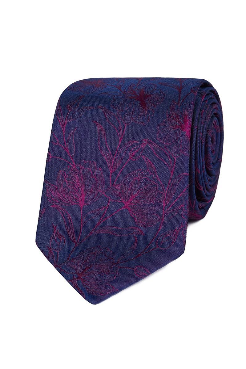 Studio Stvdio by Jeff Banks Magenta Etched Floral Tie