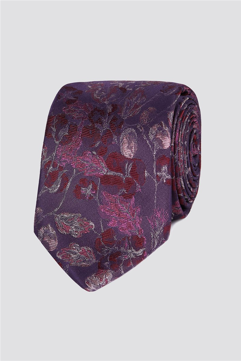 Stvdio Dusky Pink Floral Tie