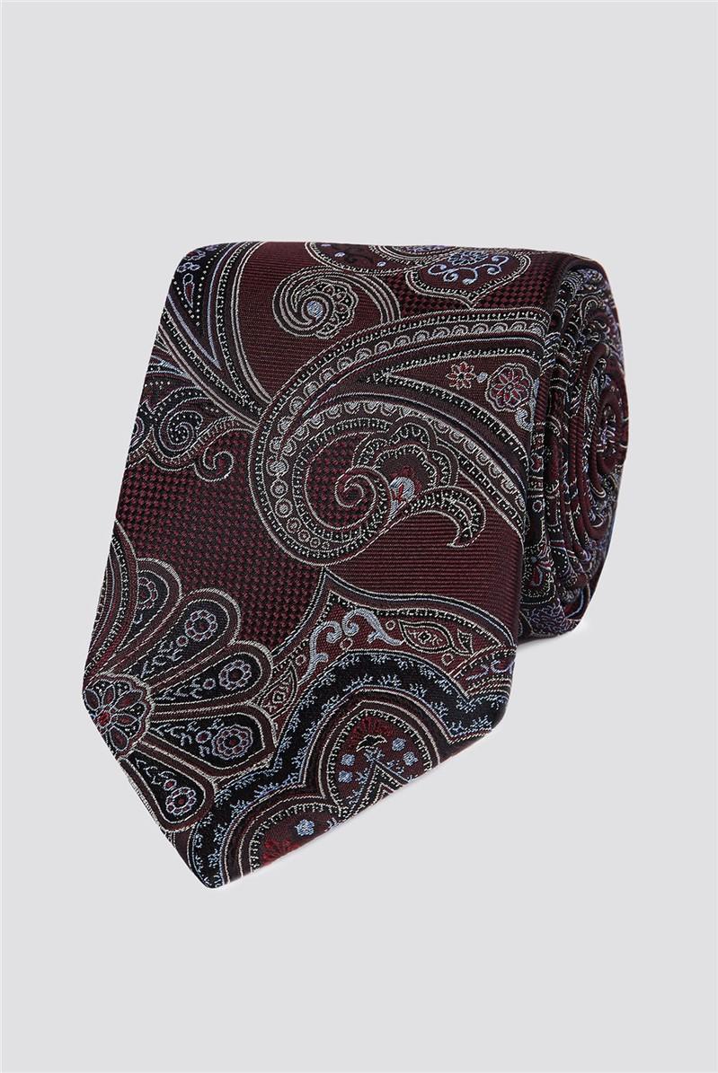 Studio Wine Large Intricate Paisley Tie
