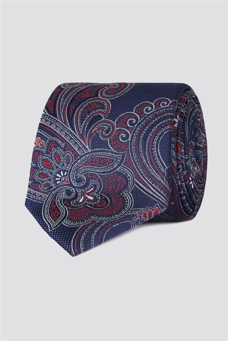 Studio Blue Large Intricate Paisley Tie