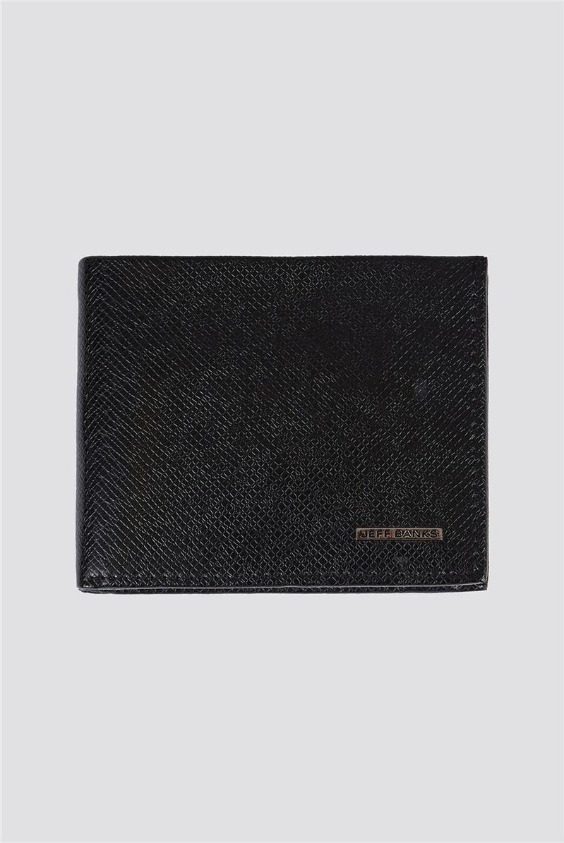 Black Pebble Texture Boxed Men's Wallet