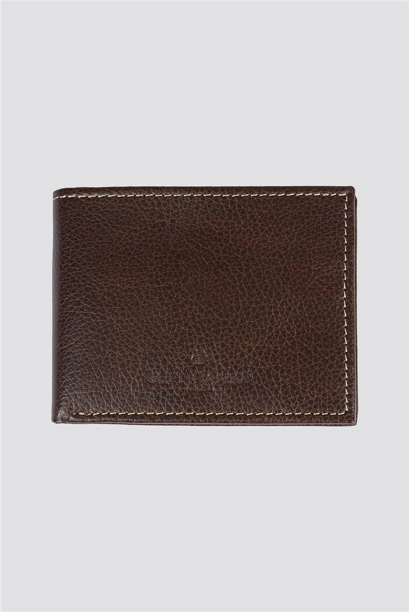 Tan Pebble Texture Leather Boxed Wallet