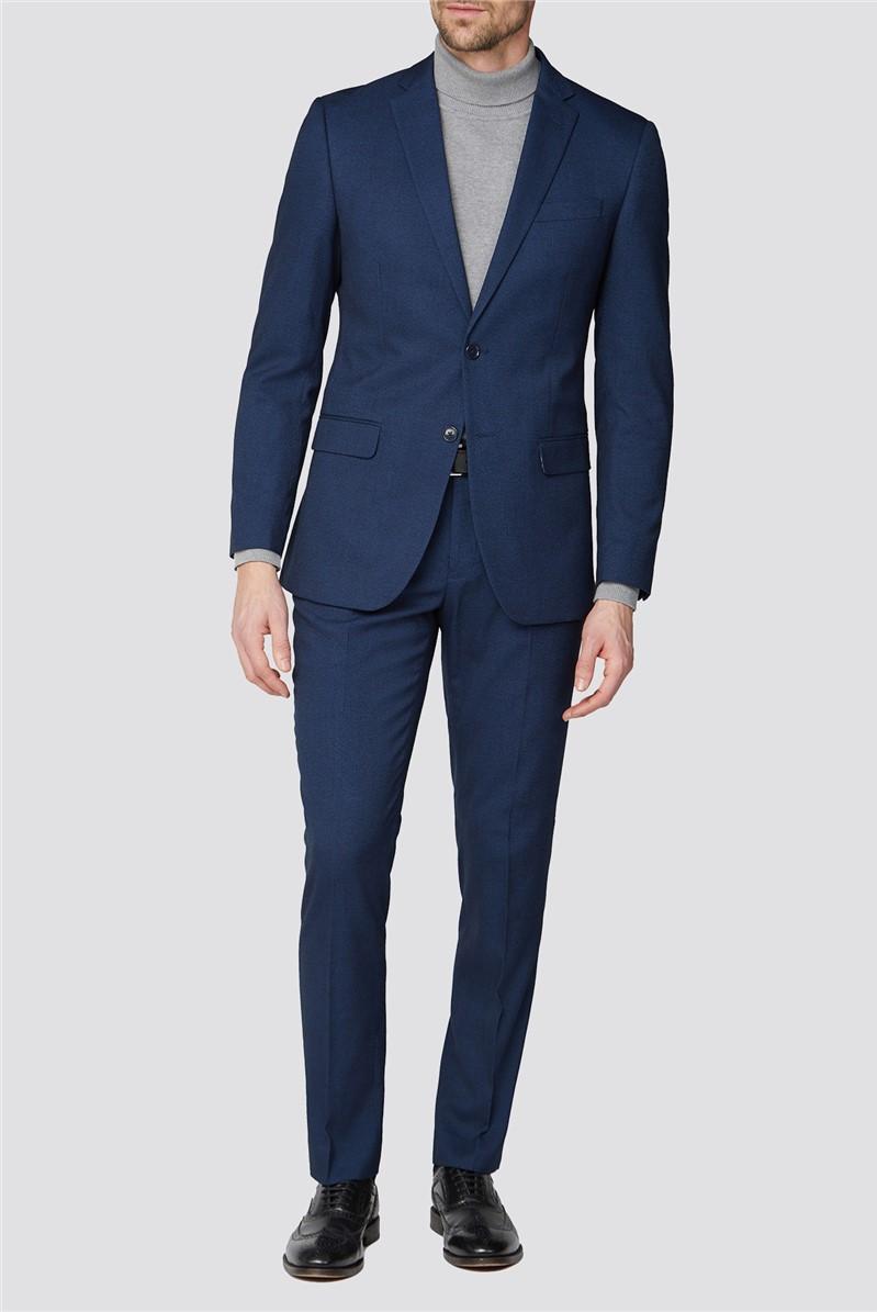 Blue Plain Tailored Two Piece Suit