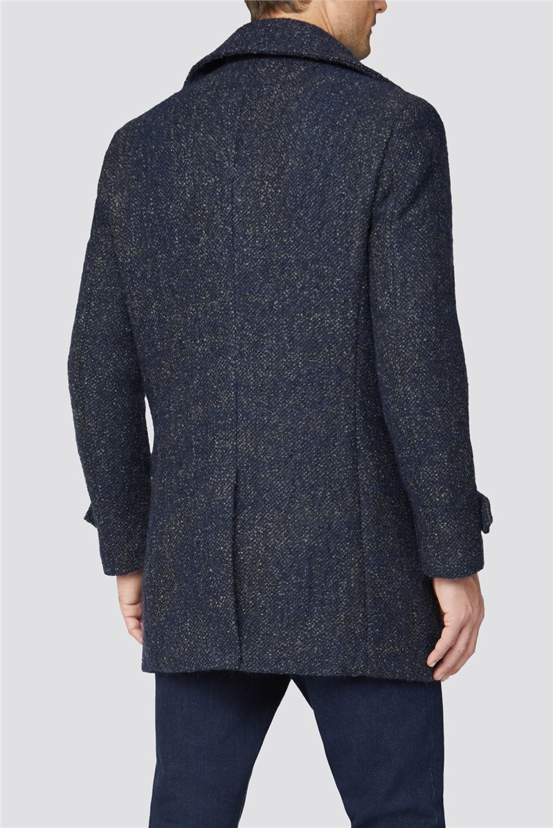 Double Breasted Donegal Pea Coat