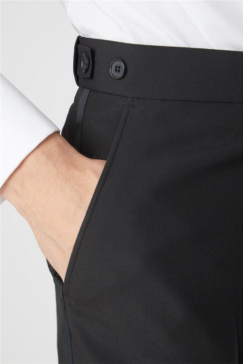 Black Satin Dresswear Trouser