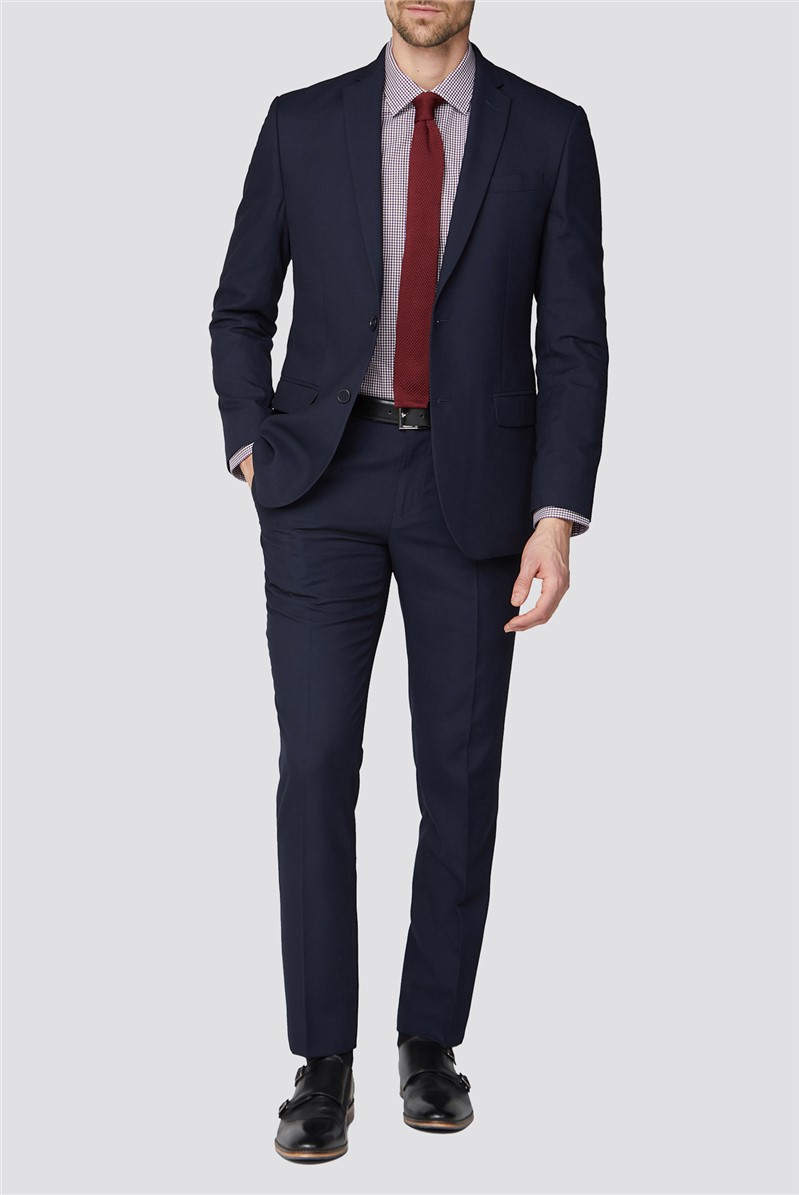 Navy Structure Two Piece Tailored Suit