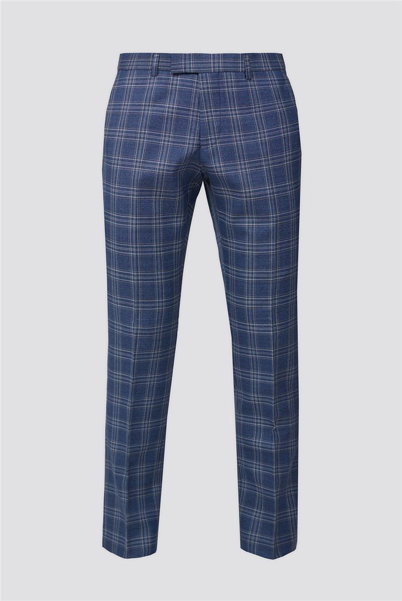 Bright Blue Rust Check Trousers