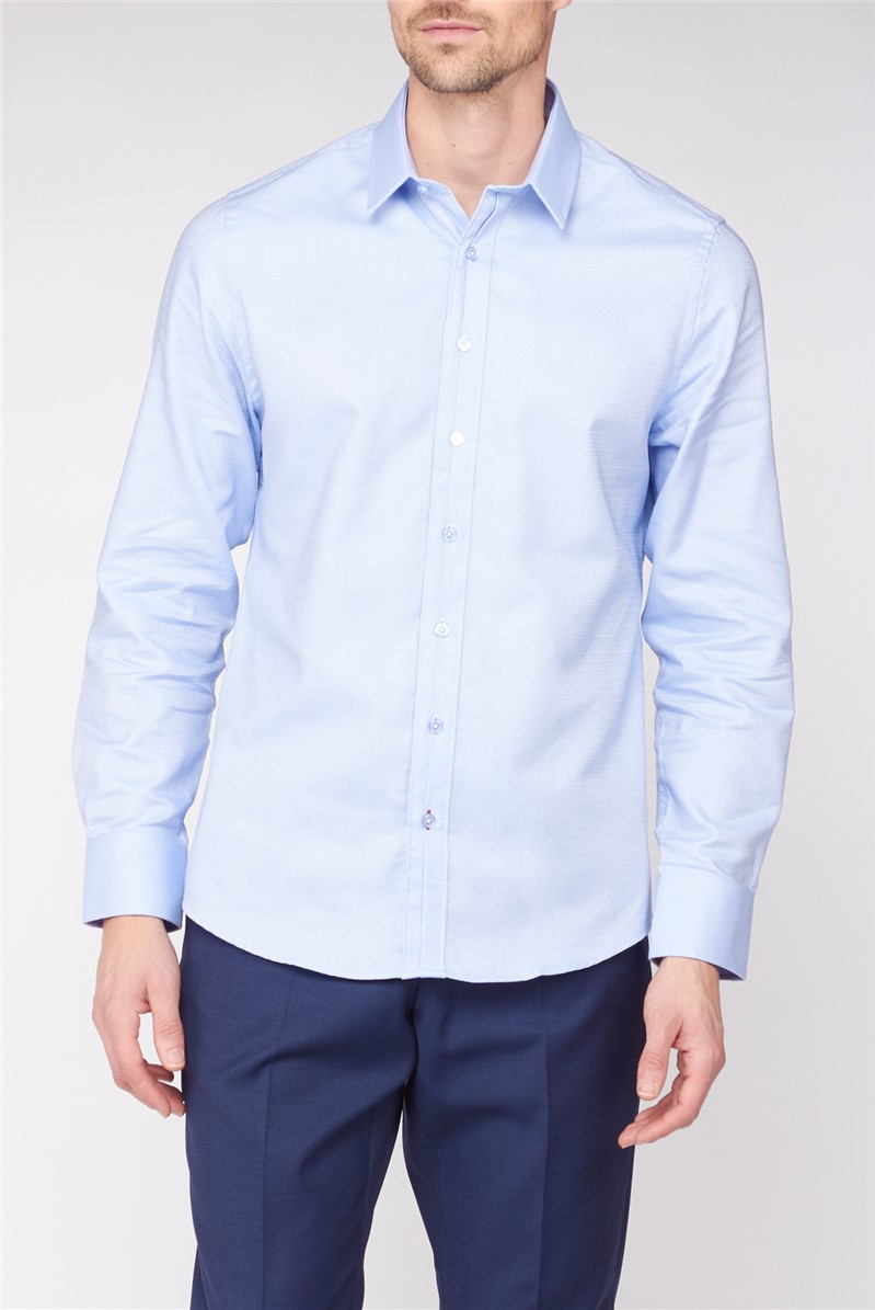 Stvdio Light Blue Diamond Jacquard Shirt