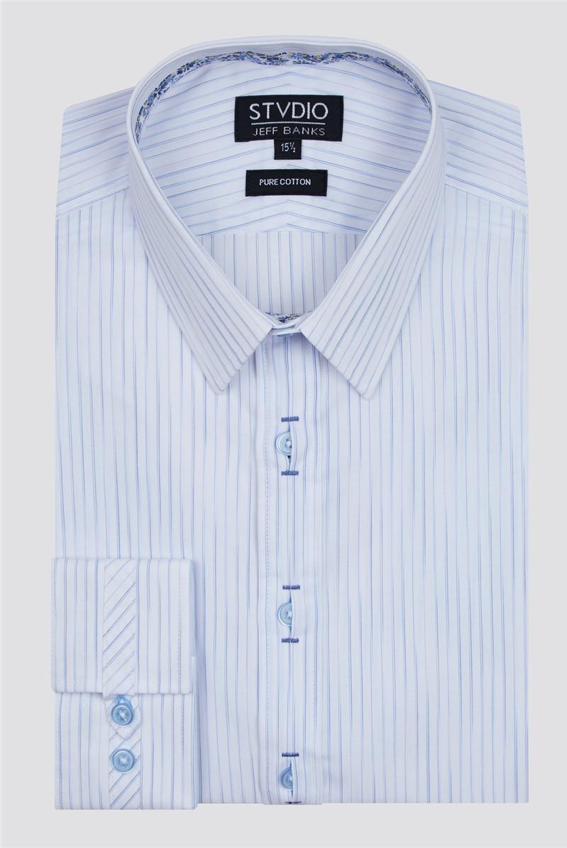 Stvdio Light Blue Graduated Stripe Shirt