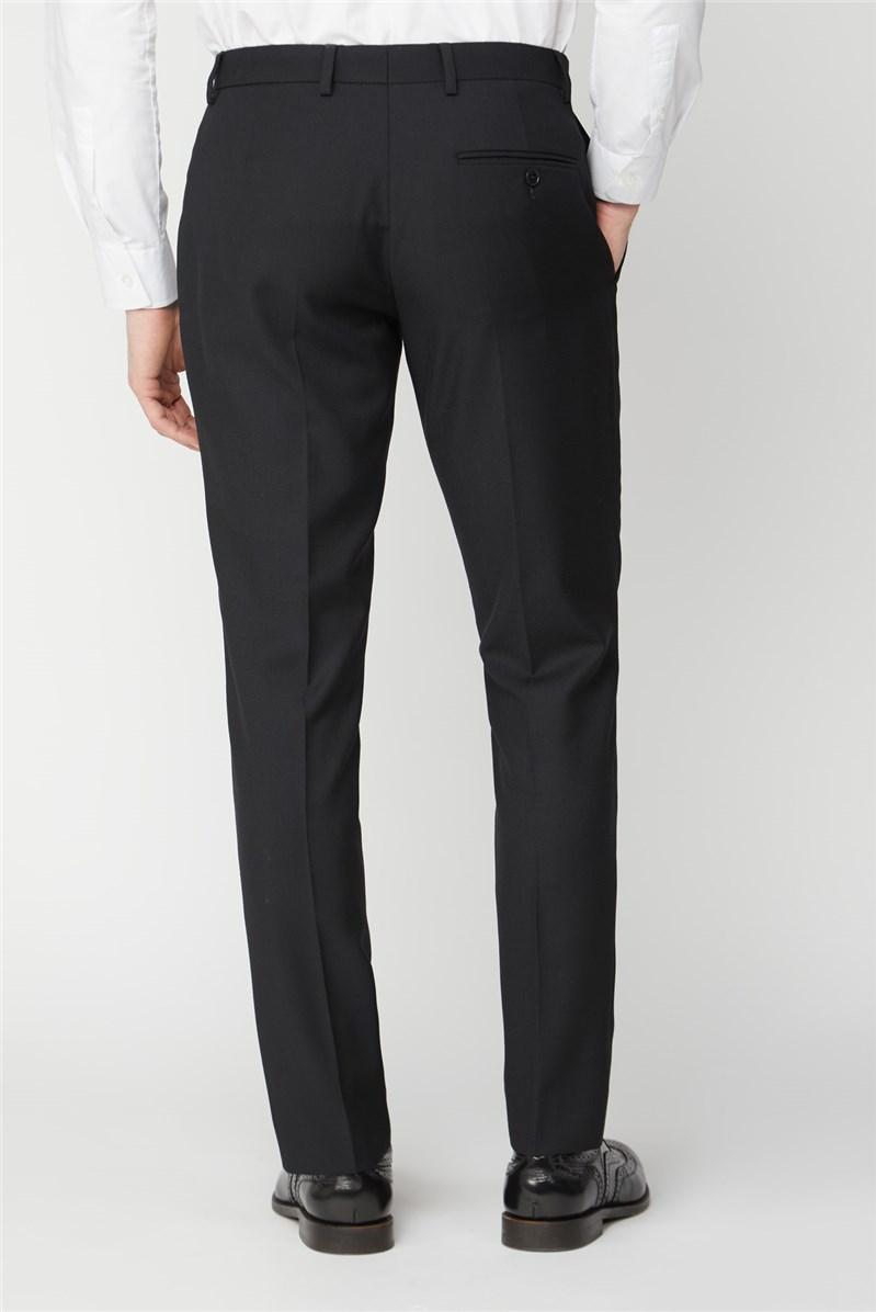 Black Textured Regular Fit Suit