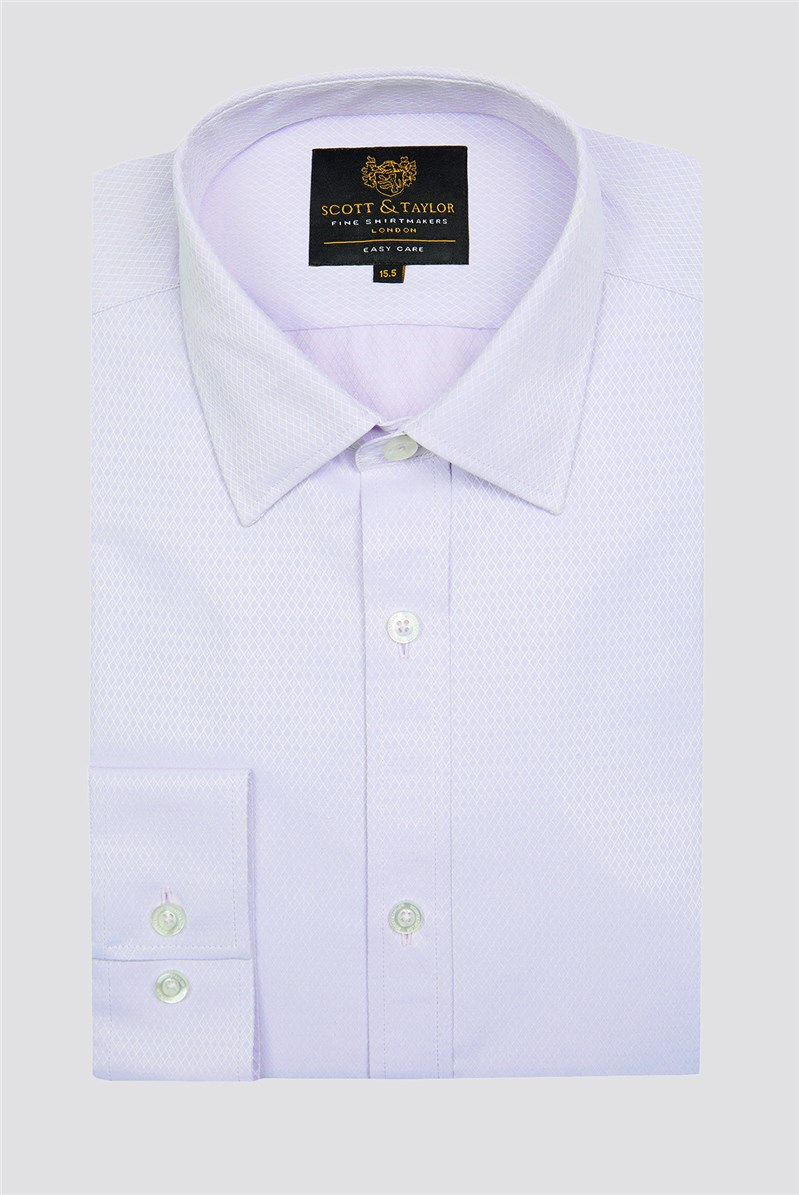 Scott & Taylor Lilac Diamond Dobby Shirt