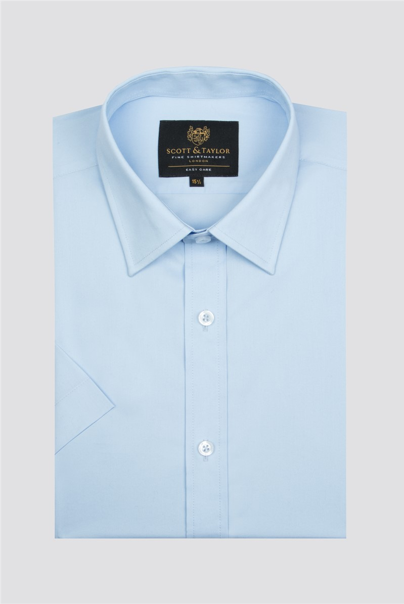 Scott & Taylor Light Blue Short Sleeve Shirt