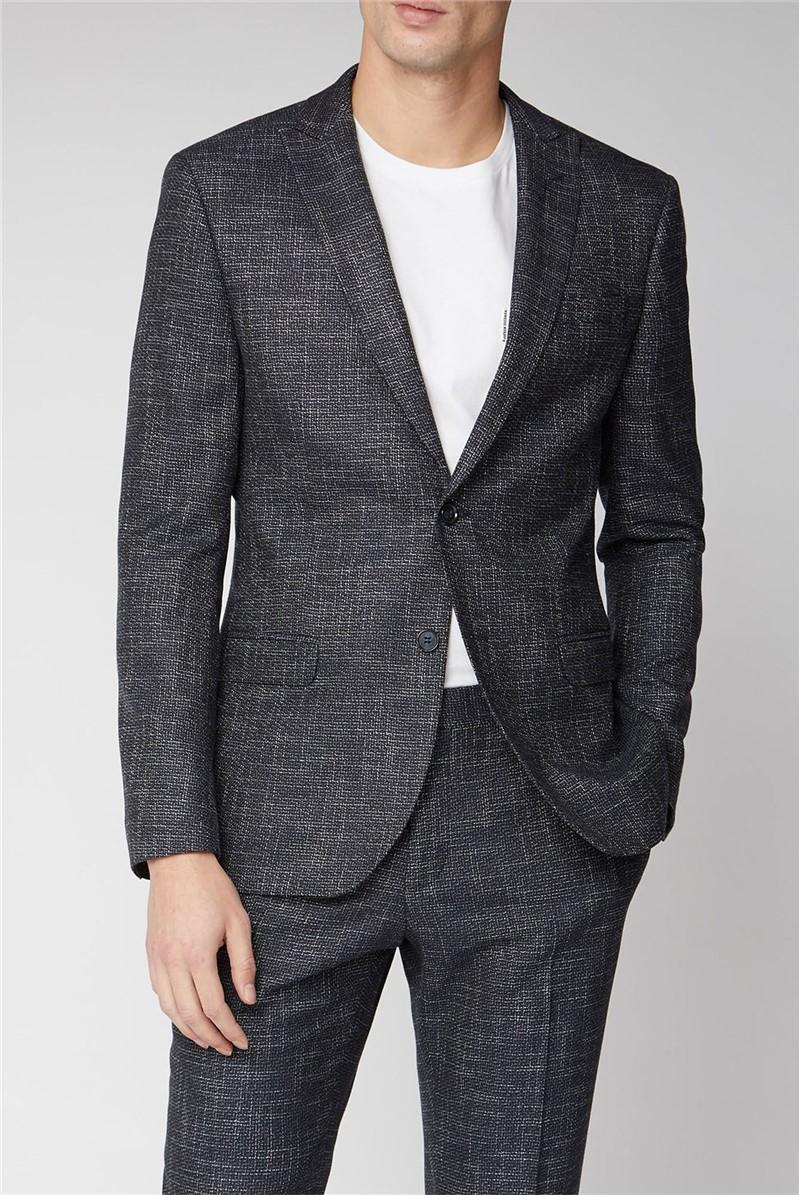 Navy Speckle Texture Suit