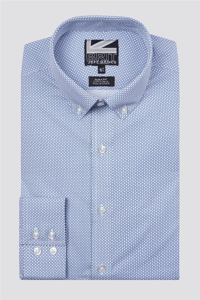 Brit Blue Circle Print Shirt