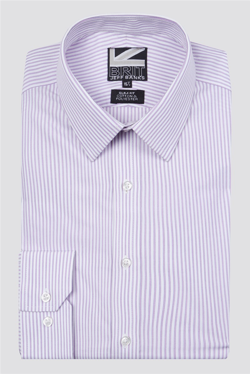 Brit Lilac Fine Stripe Shirt