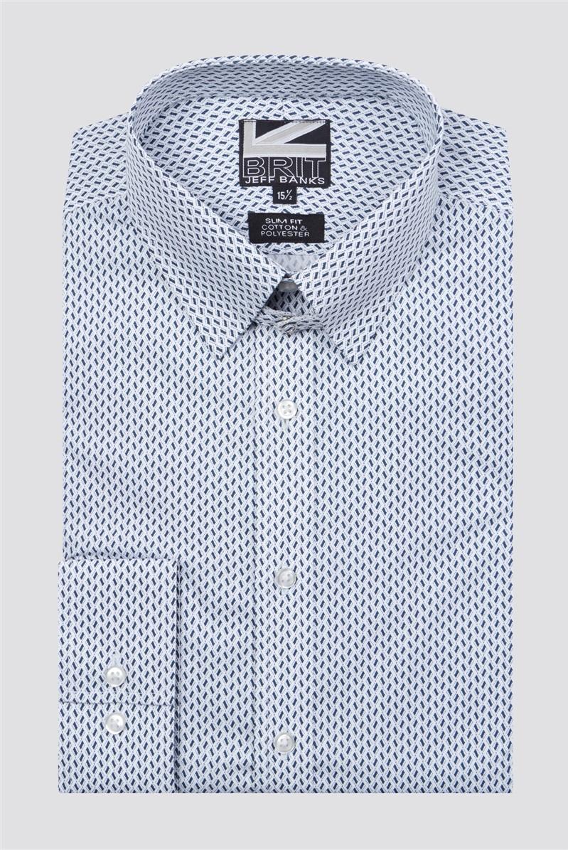 Brit Black Tiles Print Shirt