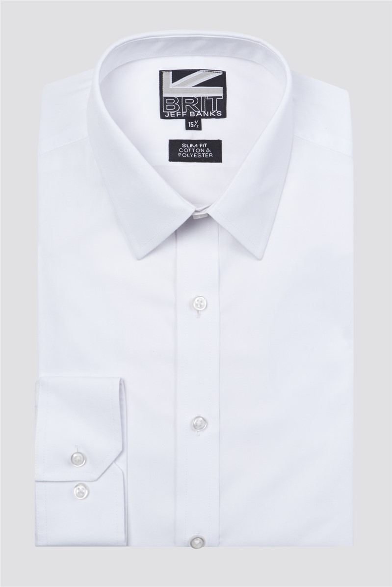 Brit White Poplin Shirt
