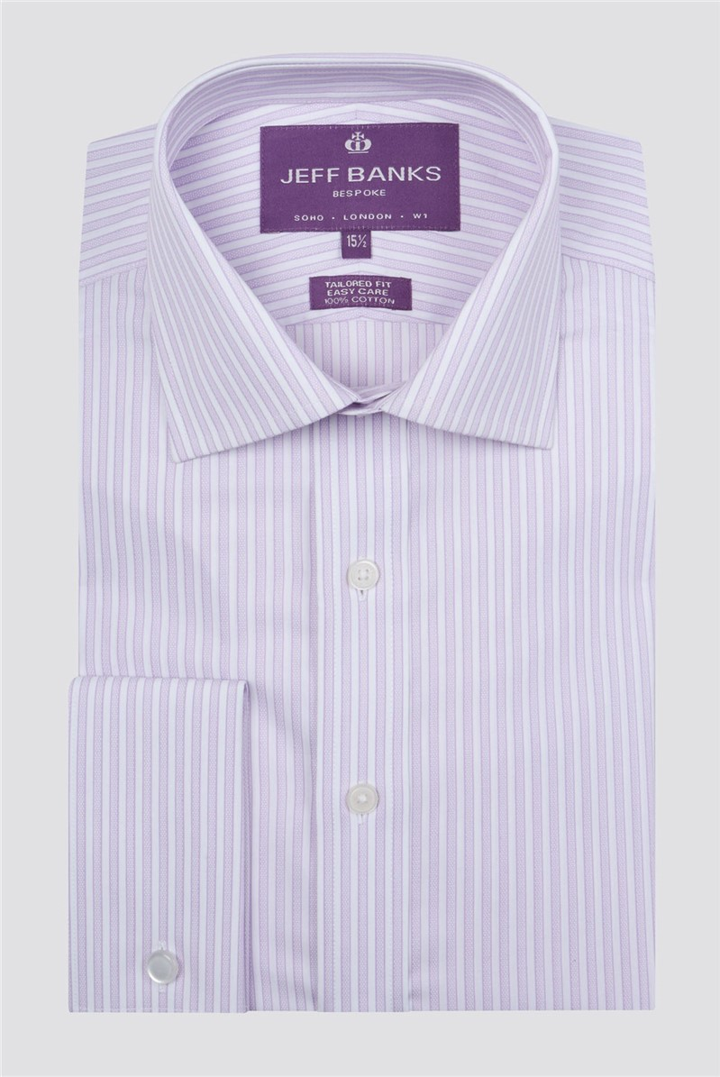 Bespoke Lilac Edged Stripe Shirt