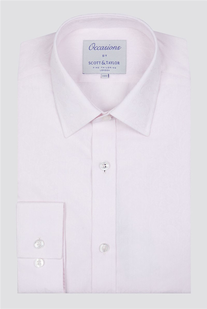 Occasions Scott & Taylor Pink Paisley Jacquard Shirt