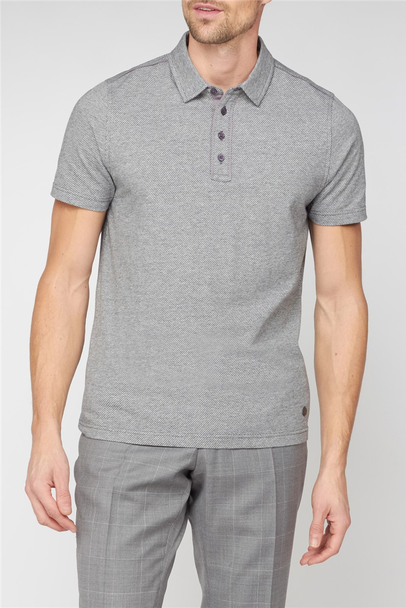 London Grey Twill Polo