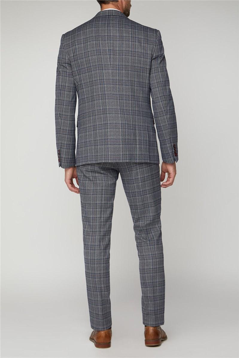 Enzo Blue Grey Tweed Check Suit Trouser