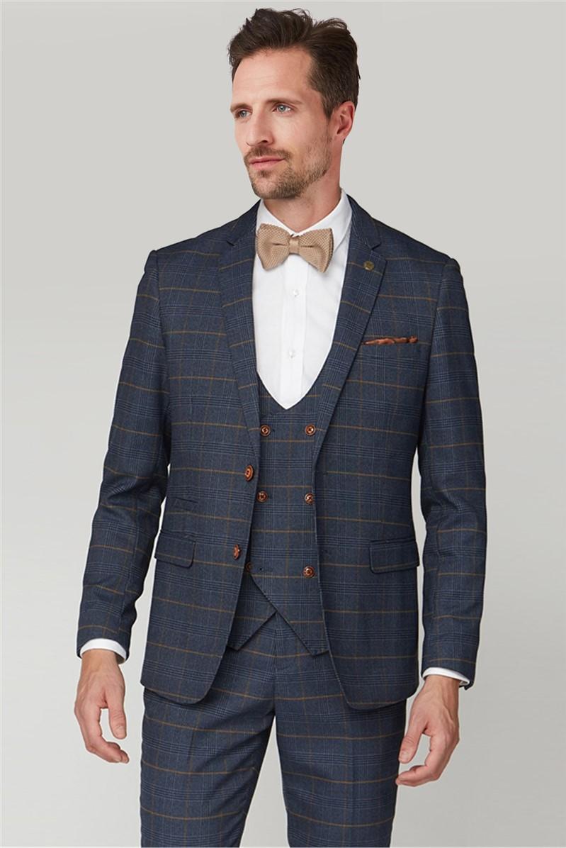 Marc Darcy Jenson Navy Check Suit Jacket