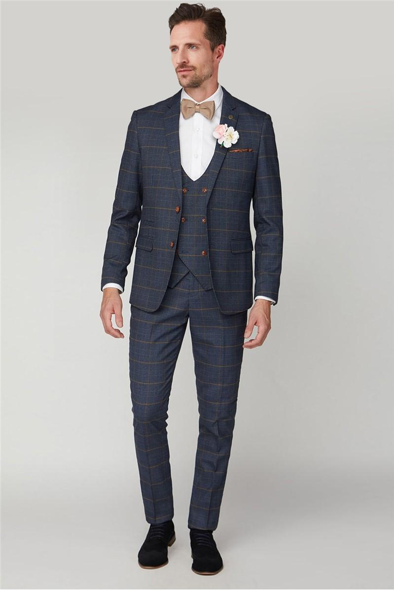 Jenson Navy Check Suit