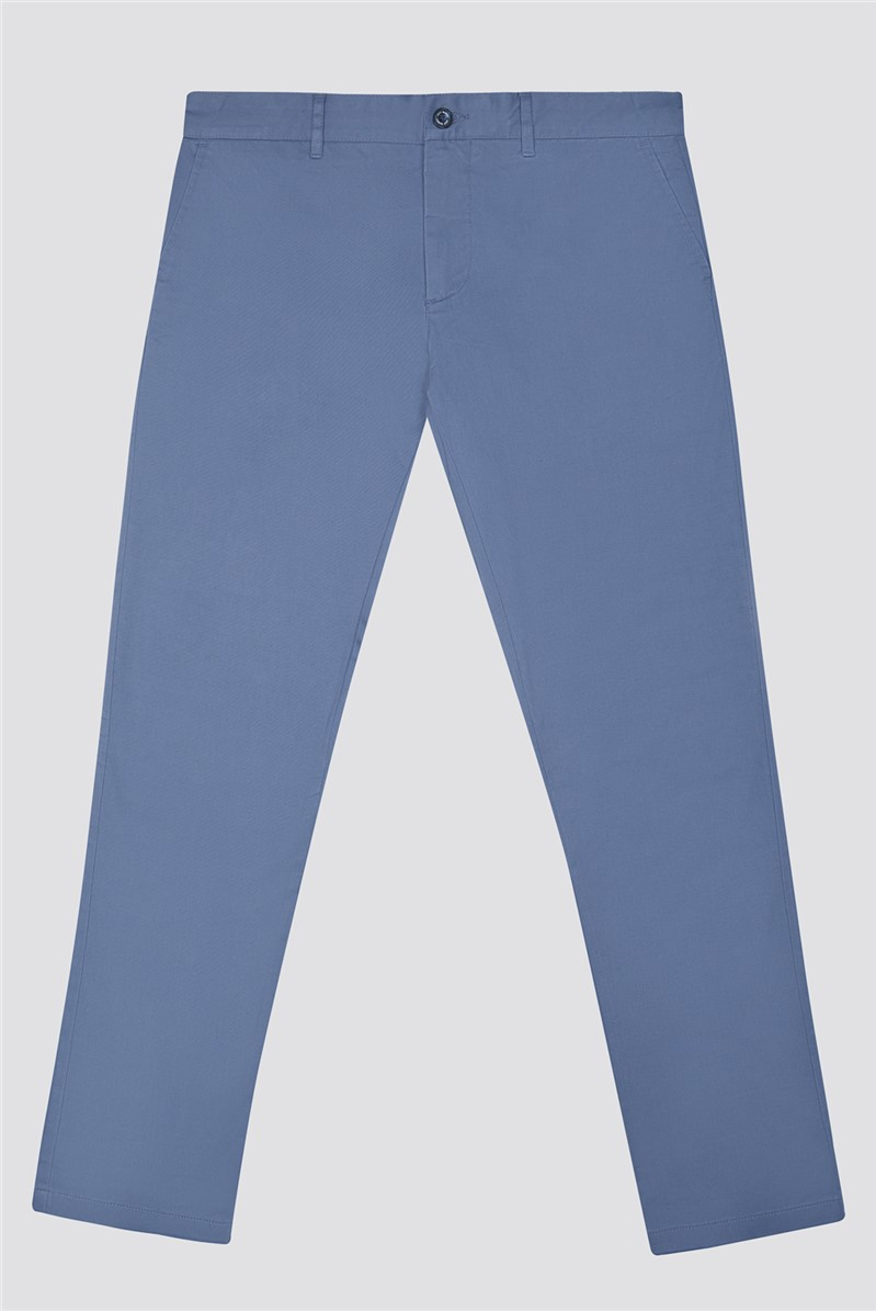 Blue Stretch Chino Trousers