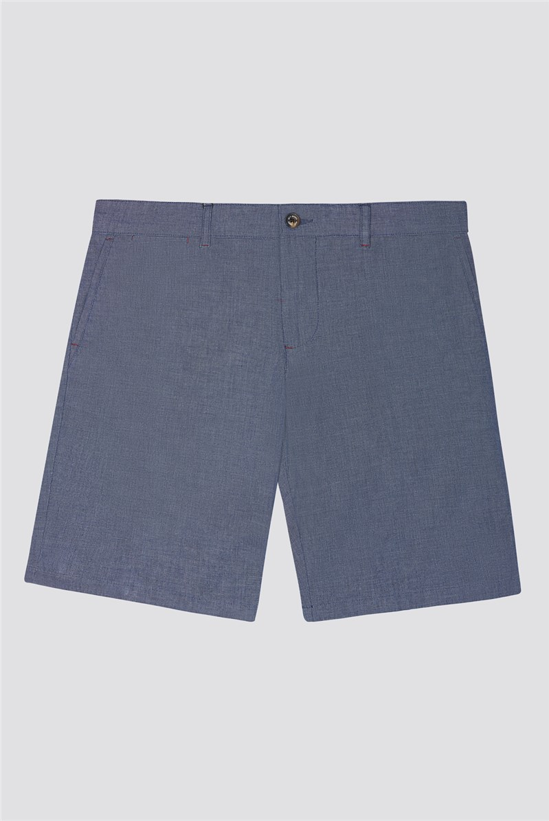 Blue Chambray Shorts