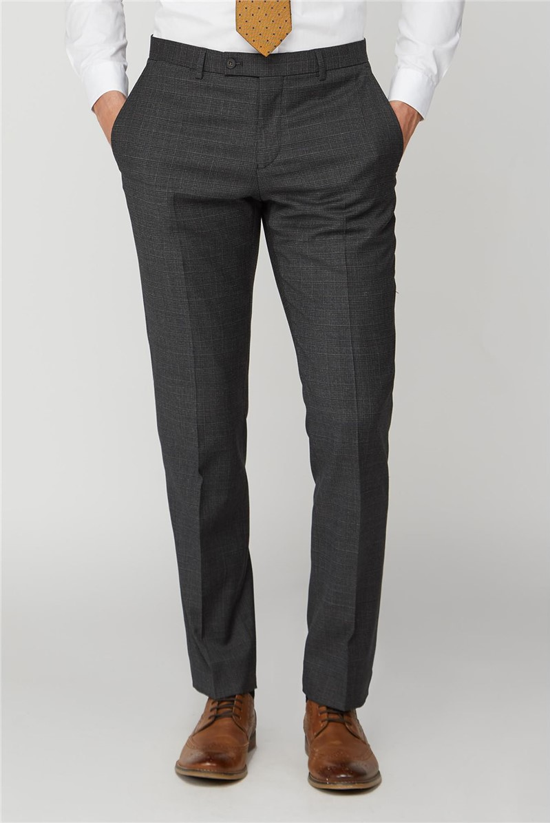 Charcoal Caramel Check Tailored Trouser